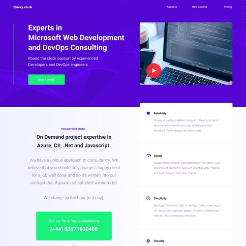 Landing Page Design For A Developers Business
