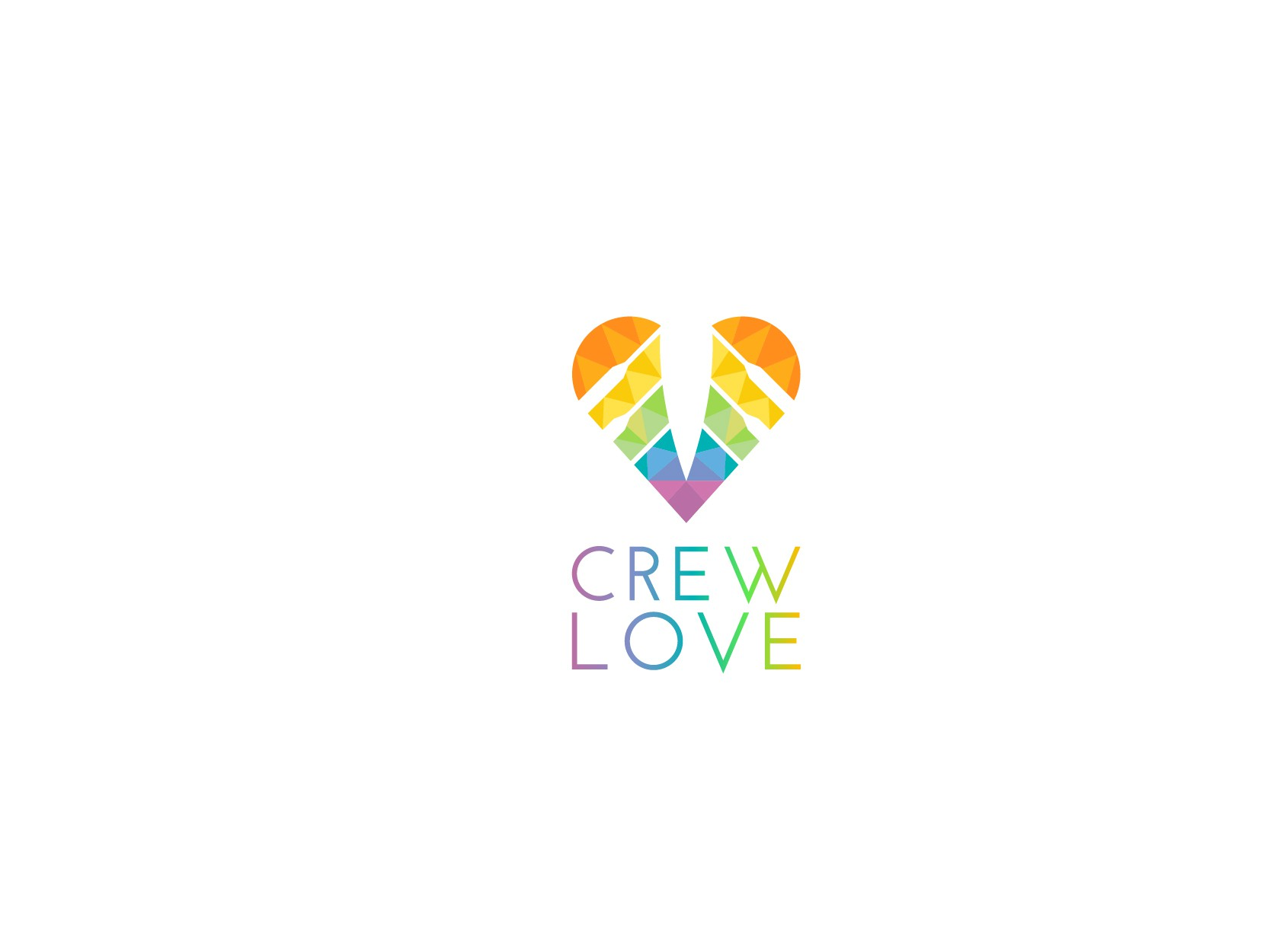 Create a modern and vibrant design for crew love!