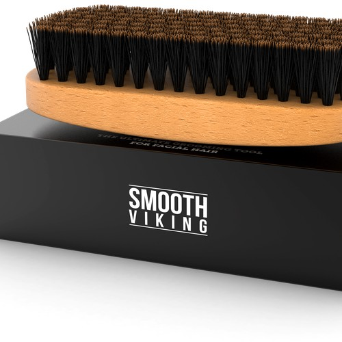 Smooth Viking Beard Brush 3D Render
