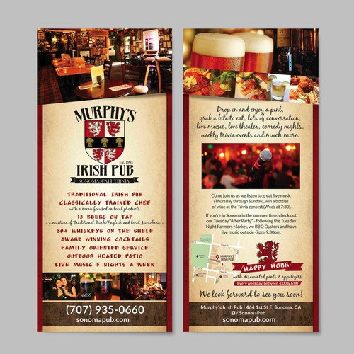 Murphy's Irish Pub's Rackcard