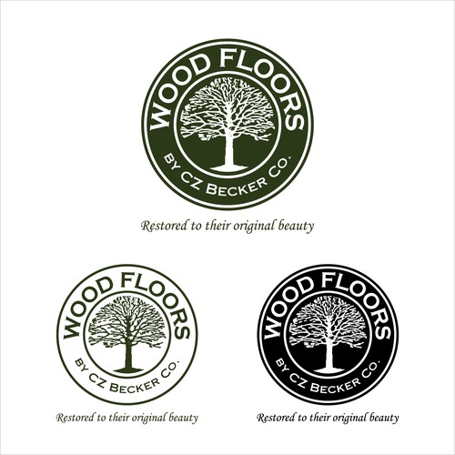bold logo concept for wood floors