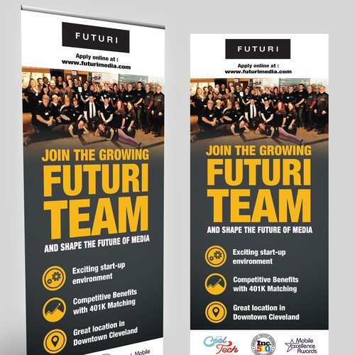 stand-up banner for College Recruitment Fair