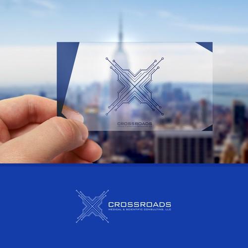 A logo concept for CROSSROADS