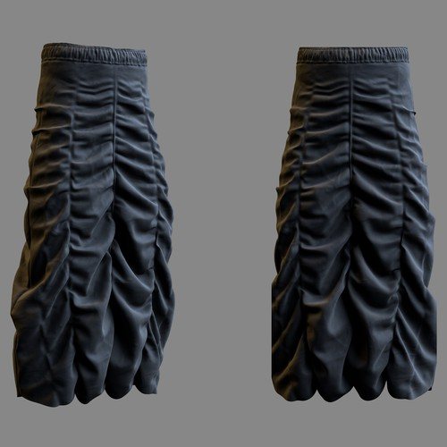 Skirt 3D modeling and render