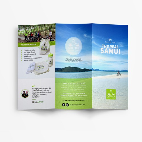 Brochure for a bicycle tour from Thailand