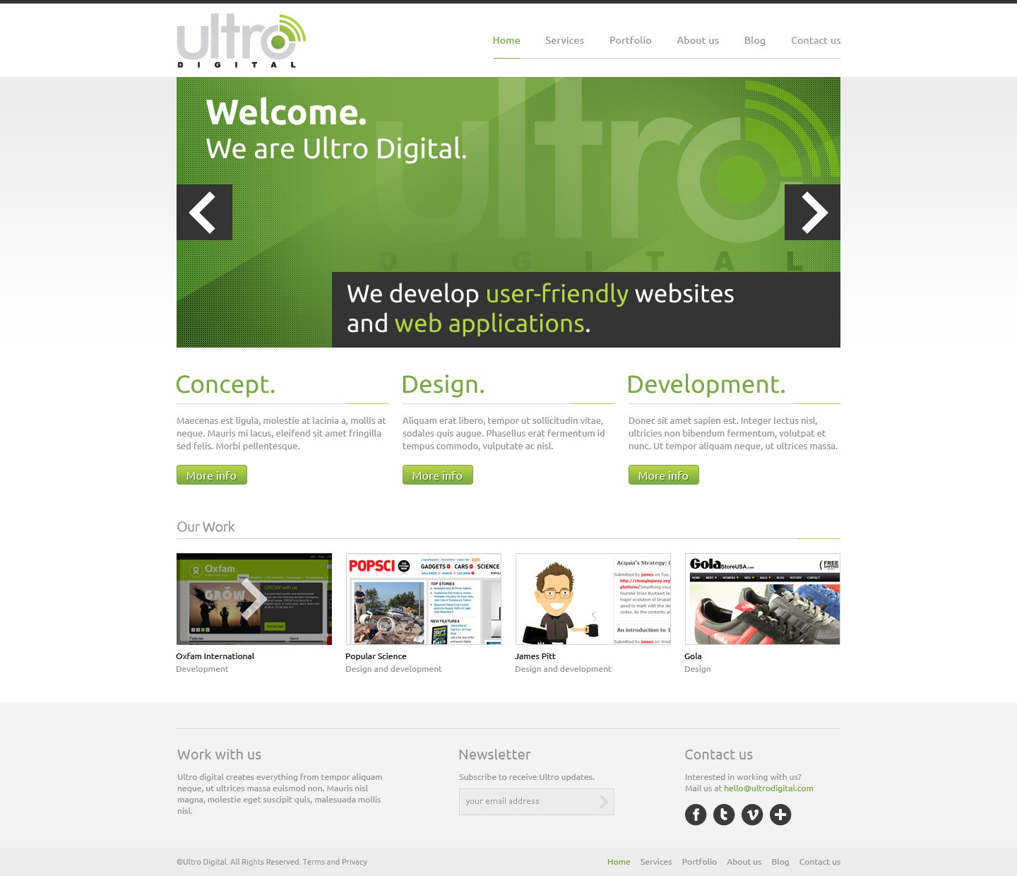Help Ultro Digital with a new website design