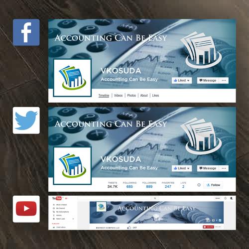 social media and logo