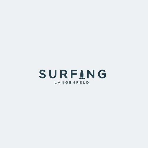 Unused Logo Design for a Surfing Company
