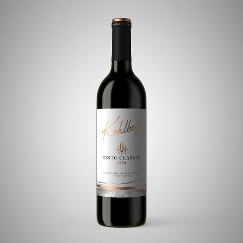 Kohlberg Red wine label design