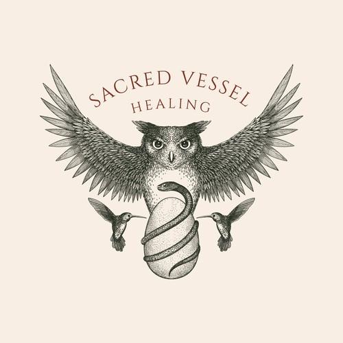 Sacred Vessel Logo design