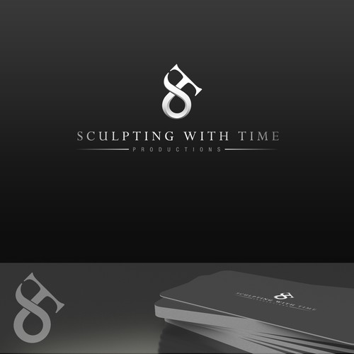 Clean, timeless logo for Sculpting With Time Productions