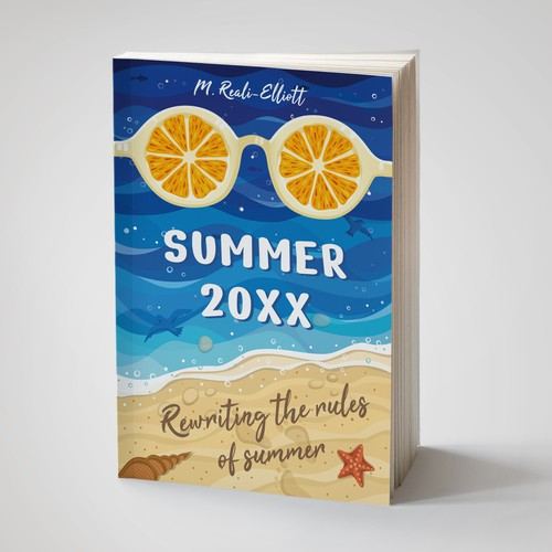 Cover design for a summer memory book