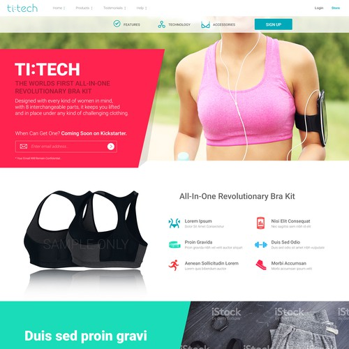 Landing Page for Ti:Tech