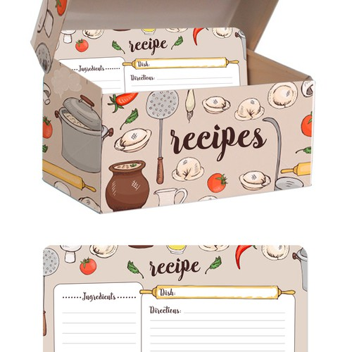 recipe box and card