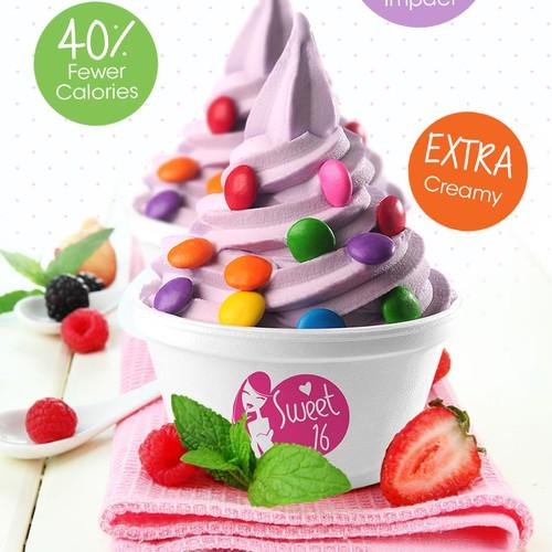 Poster for frozen yogurt