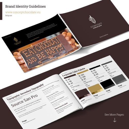 Brand guidelines for www.conceptchocolate.eu