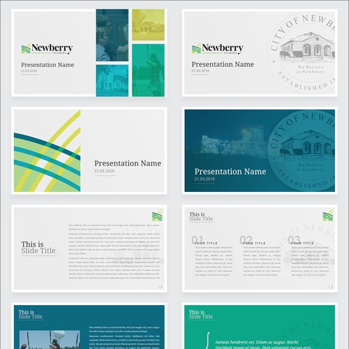 Presentation template for Newberry