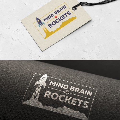 Creative and clean logo for Mind Brain & Rockets.