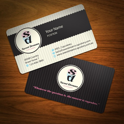 ATTENTION Designers!   Sweet Dreams Cupcakery needs BUSINESS CARDS!