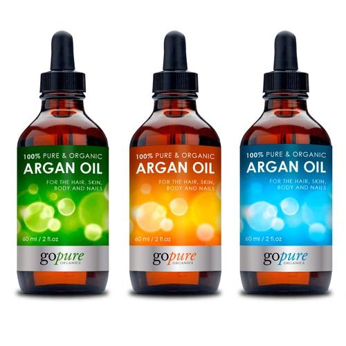 Eye-popping Label for Argan Oil