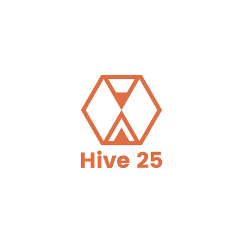 Hive 25 logo design concept (version 2)