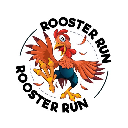A rooster mascot logo design