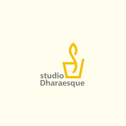 logo forSimple logo for Studio Dharaesque concrete home decor