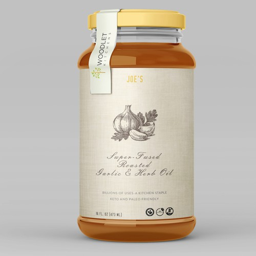 Label for Gourmet Specialty Food Product