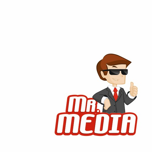 Design a logo for Mr. Media. A new name in mobile entertainment.
