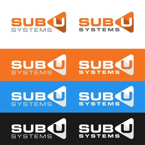 bold logo concept for SubU.