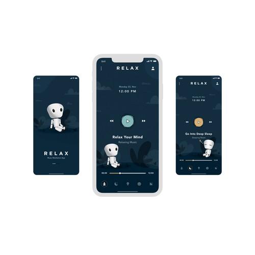 Meditation App UX/UI Design.