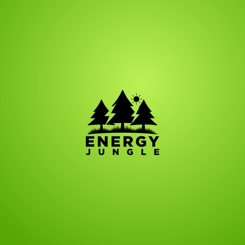 energy jungle logo concept