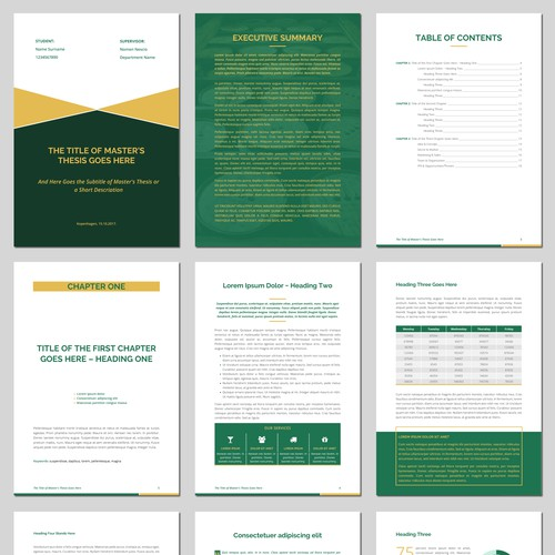 Creative Design for Master Thesis $