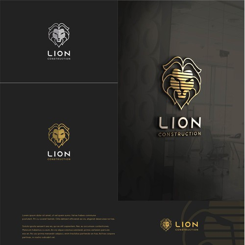 Lion Construction Logo.