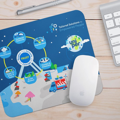 Attractive design for a global energy leading company (mousepad / mug)