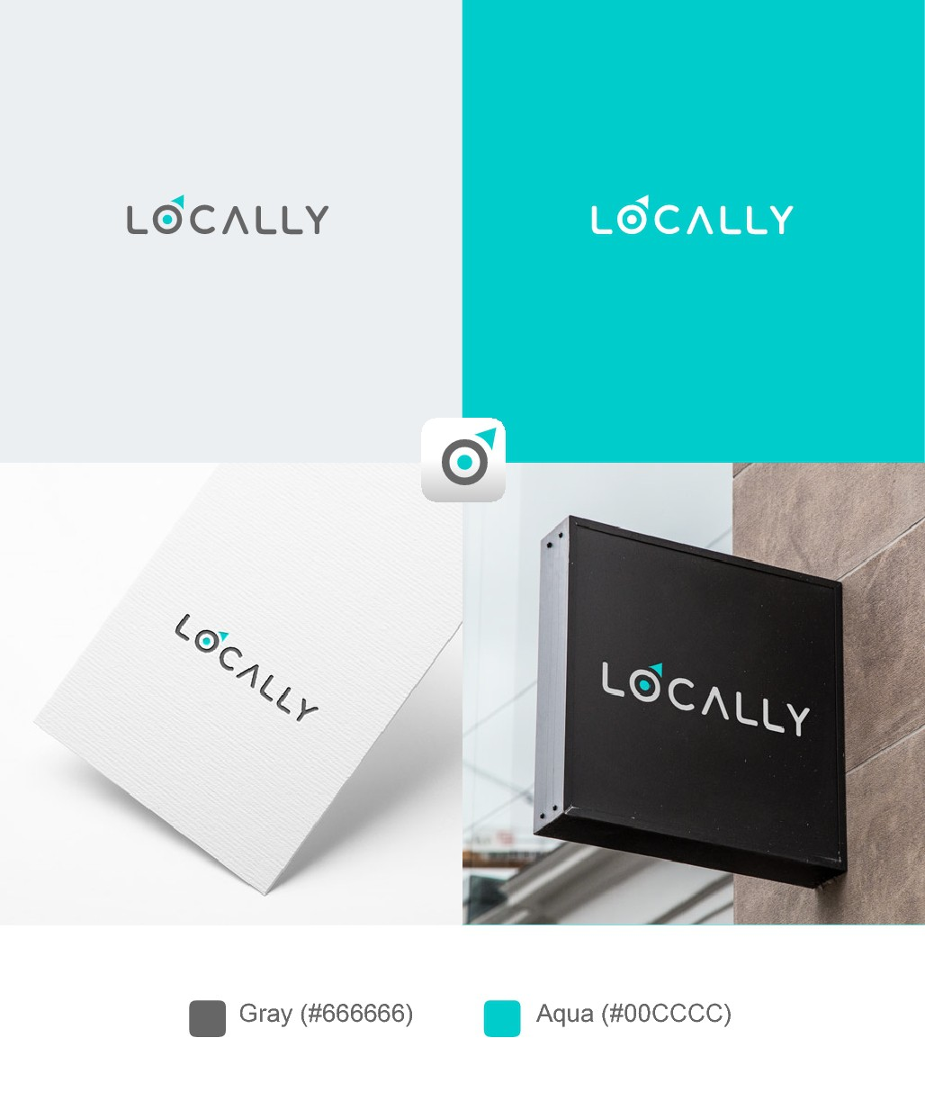 Create a new logo for a tech-startup rebrand. Location-based data intelligence.