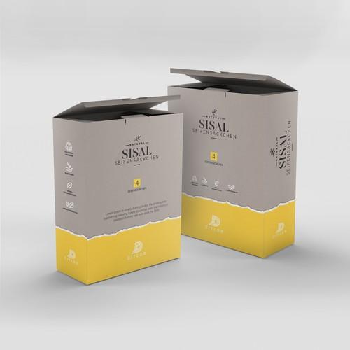 packaging design for SISAL soap bags