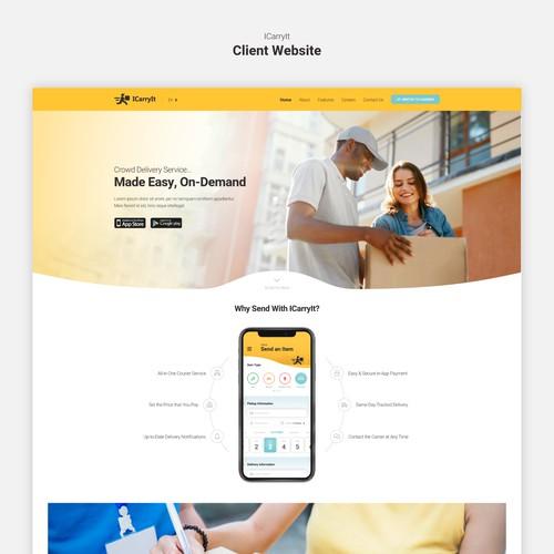 ICarryIt Website Homepage