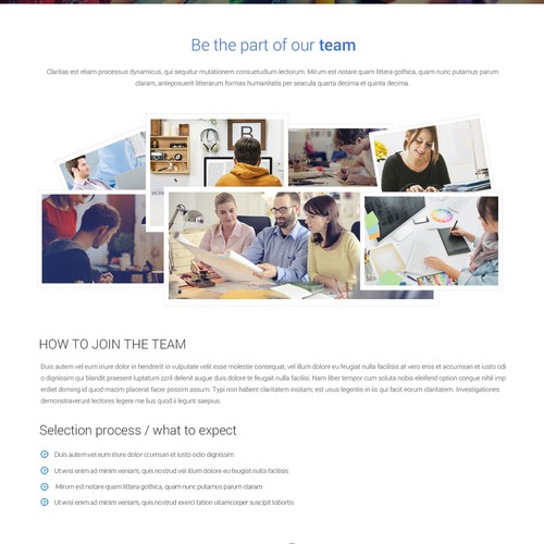 Career page design