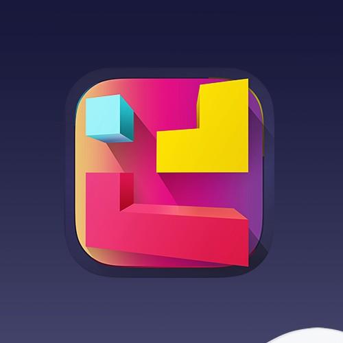Tetris game icon design