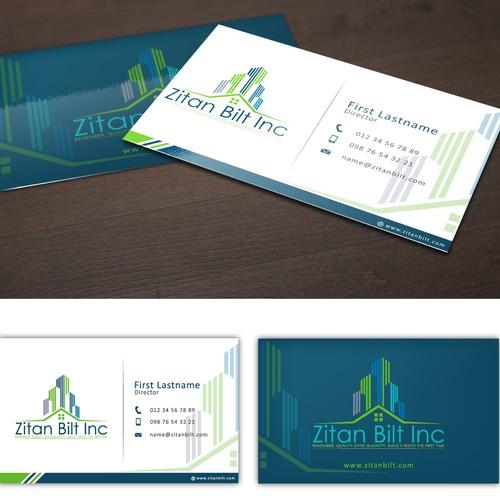 Help Zitan Bilt INC with a new logo and business card