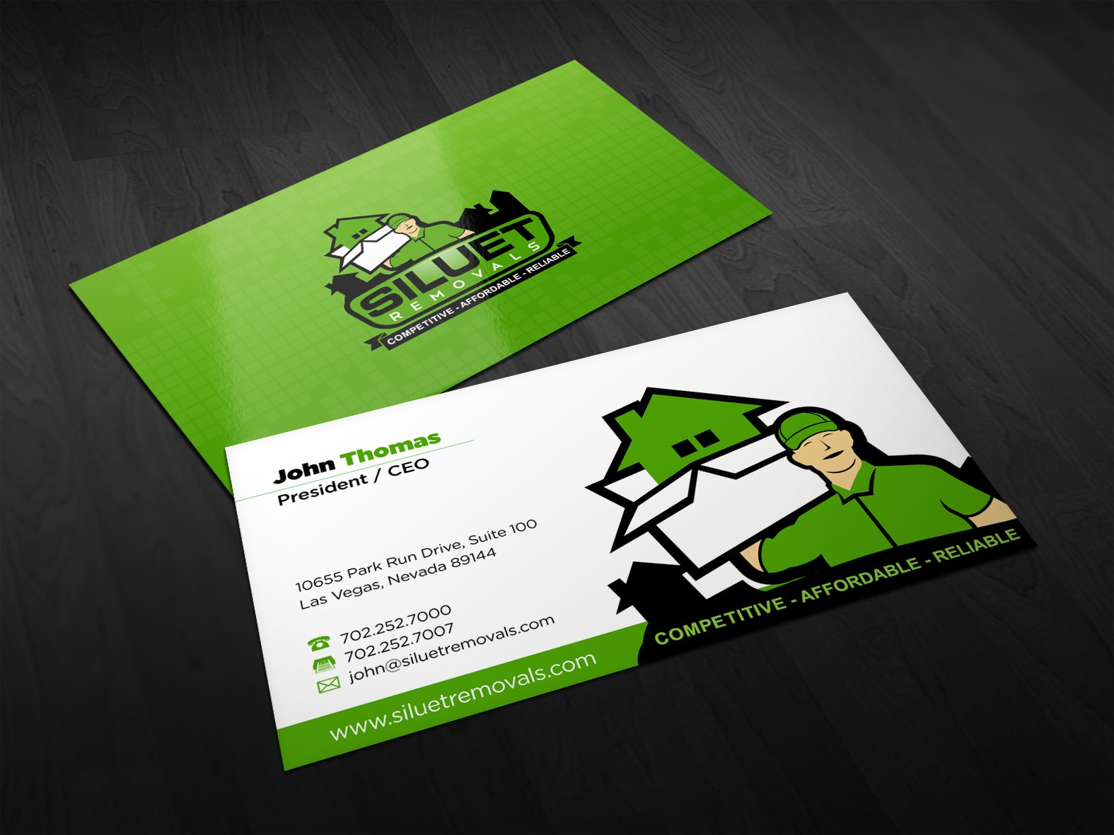 Siluet Removals needs a new stationery