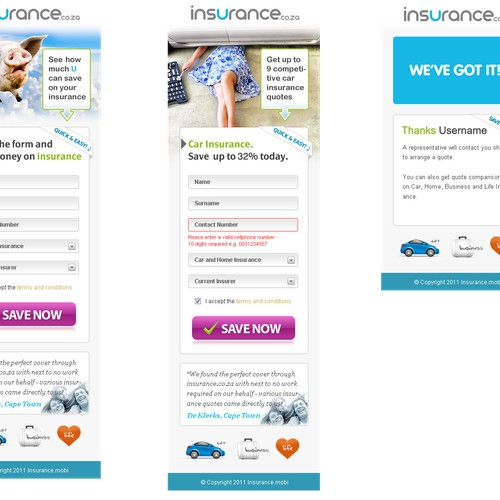 New app design wanted for insurance.co.za