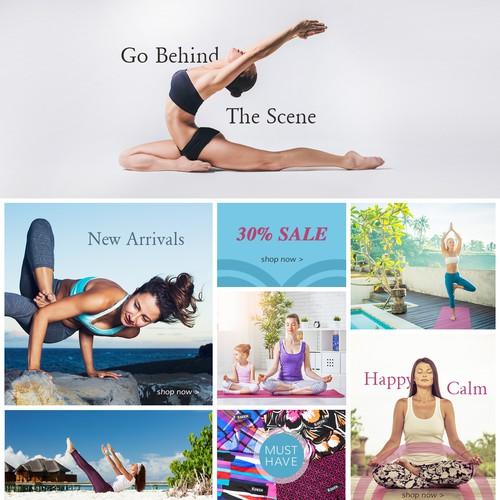 Home page design for Copenhagen based online yoga shop