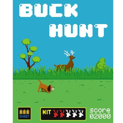 tees design buck hunt