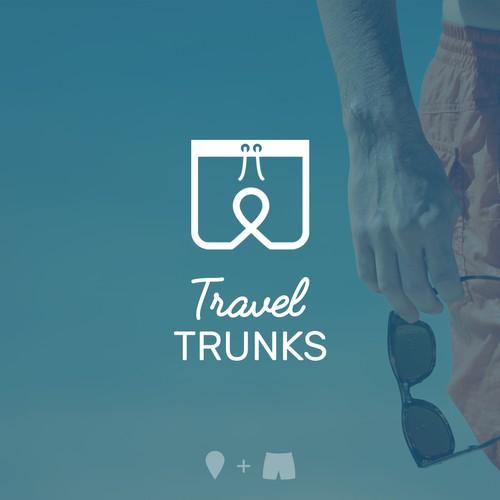 Clever logo for Travel Trunks