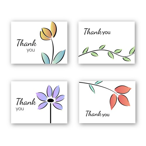 Thank wou cards design