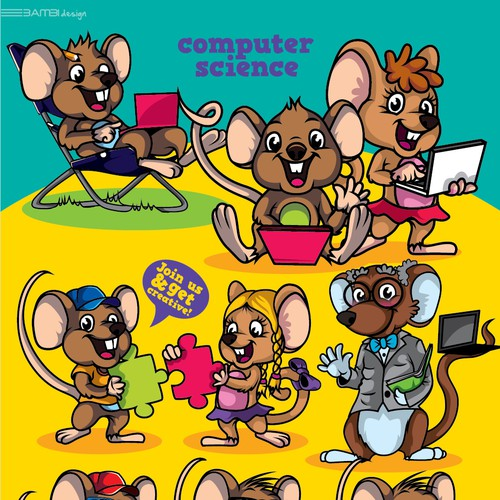 characters for the kids computer school