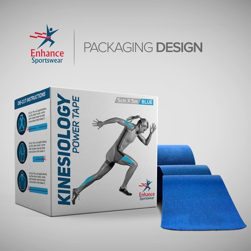Sports Tape Packaging Label Design