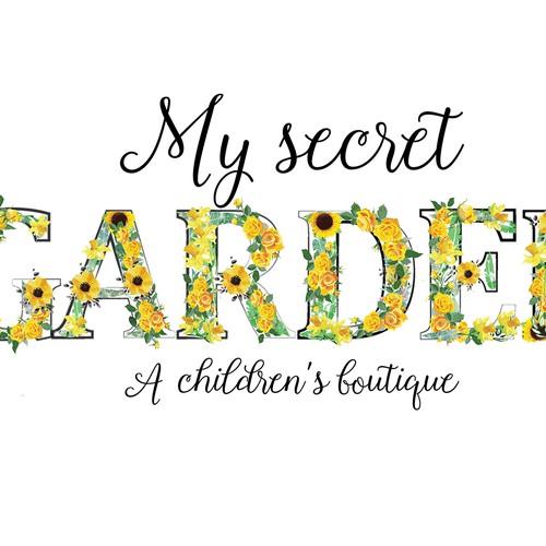 Bold, floral logo